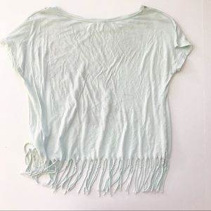 Defacto Tops - Boho Fringe Feather Top Shirt DEFACTO Medium